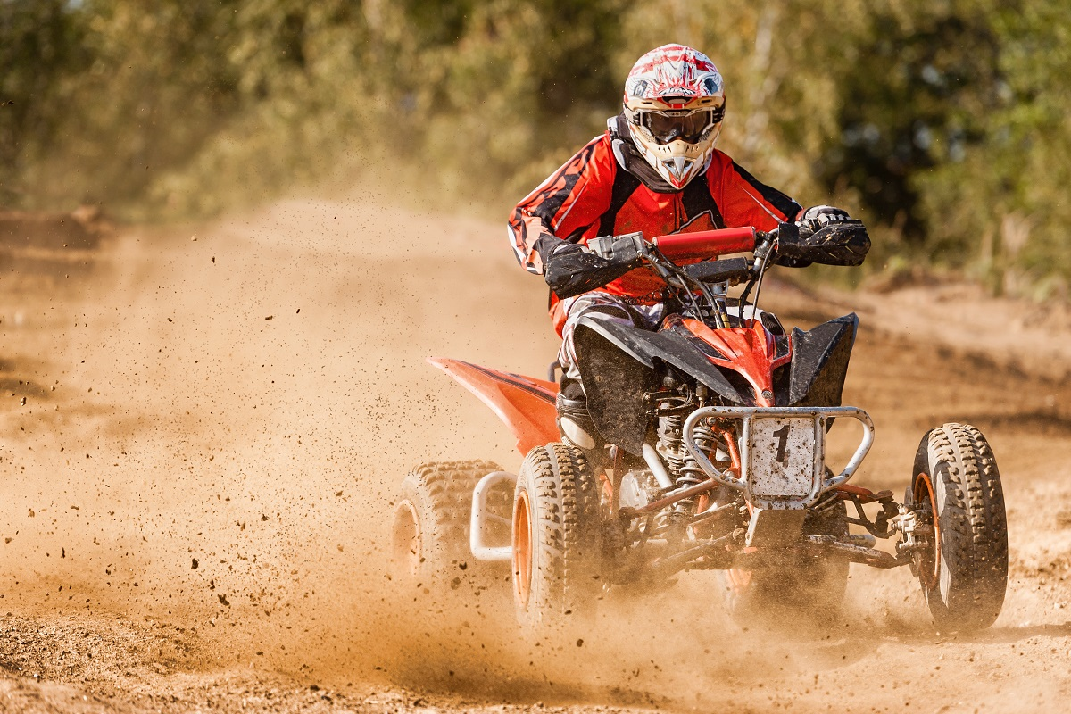 ATV rider in action