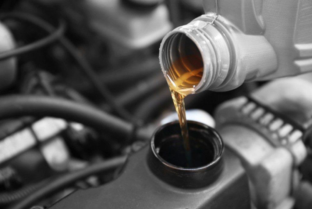 petroleum pouring