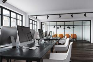an open office with modern design