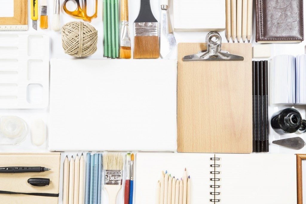 Tools used in creating arts