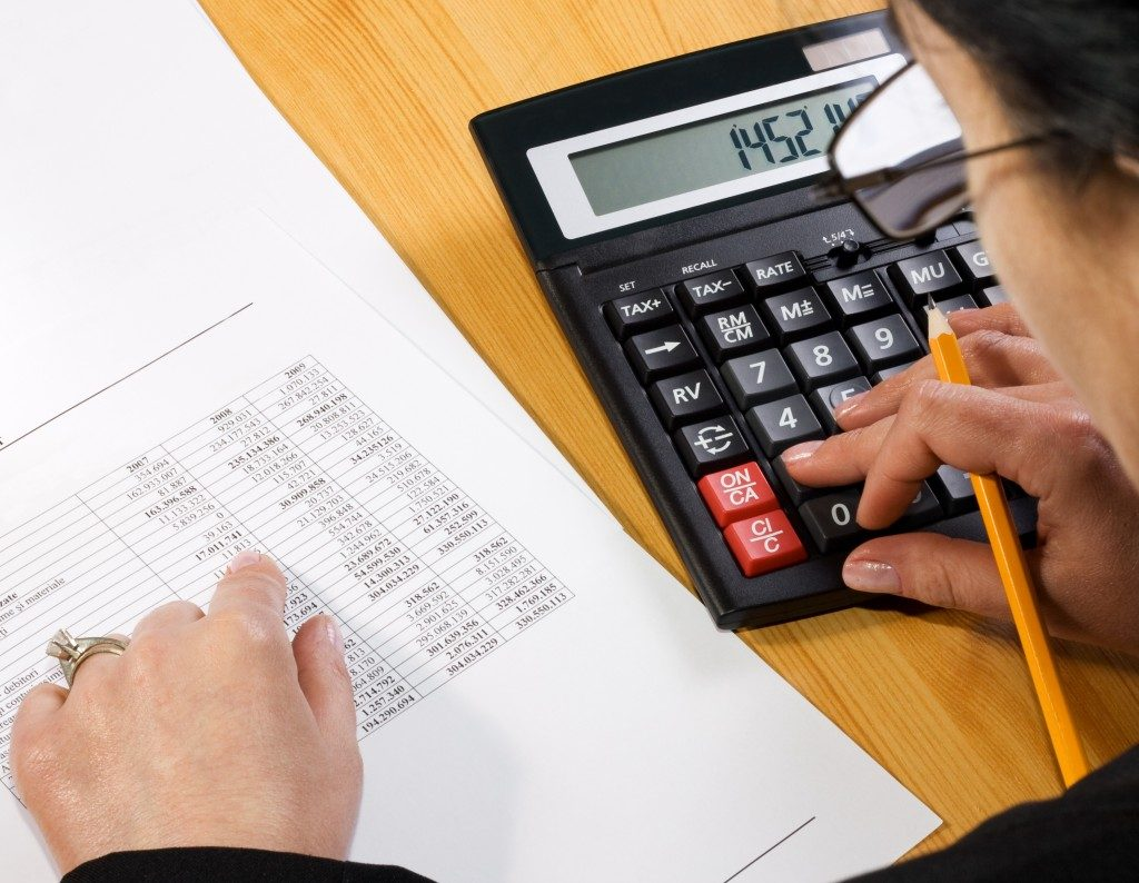 Accountant working on tax