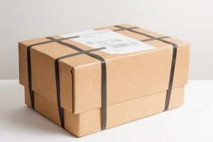close up picture of a wrapped parcel