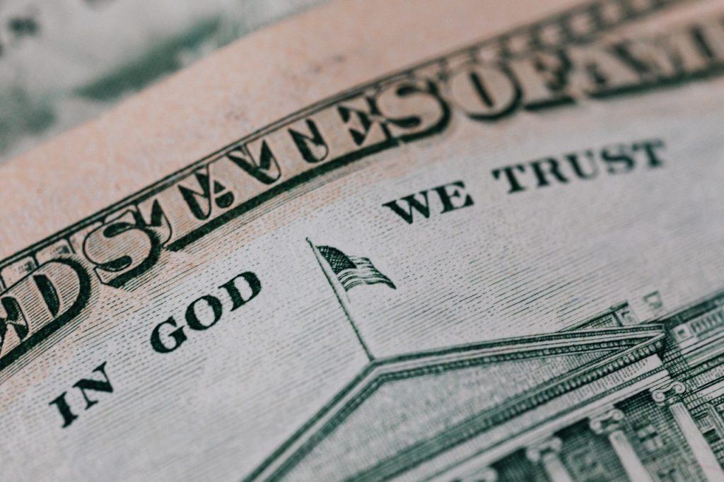 close up of a dollar bill